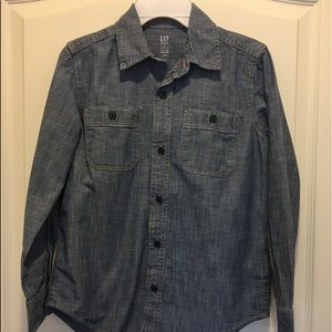 Button down boys long sleeve shirt